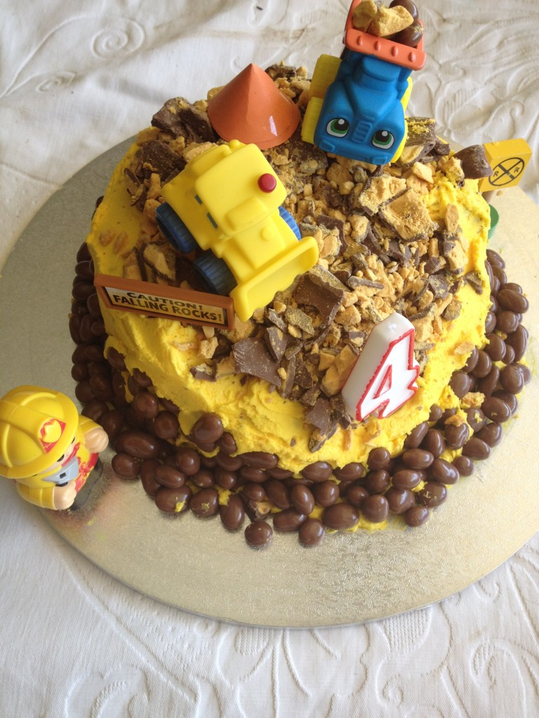 Construction Site Birthday Cake