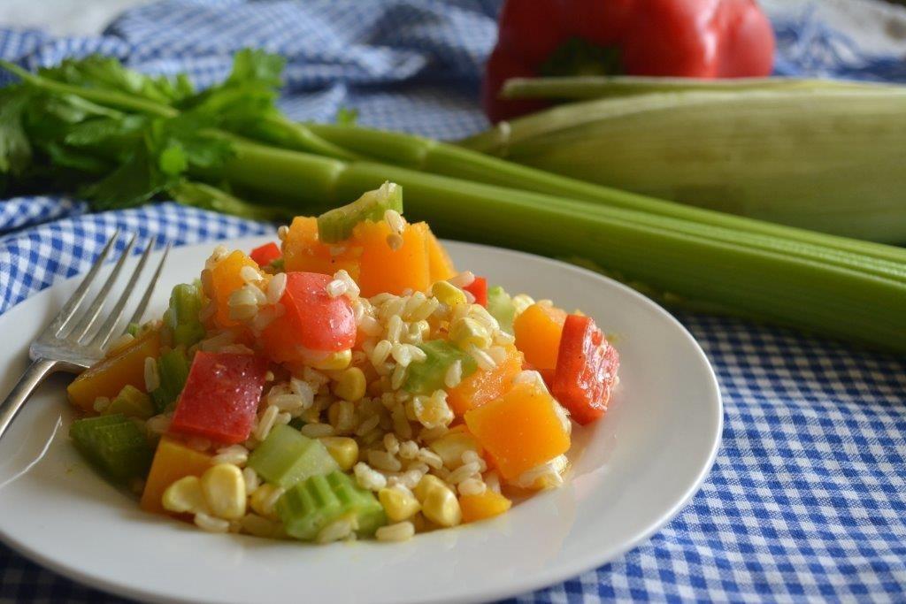 Pumpkin rice salad