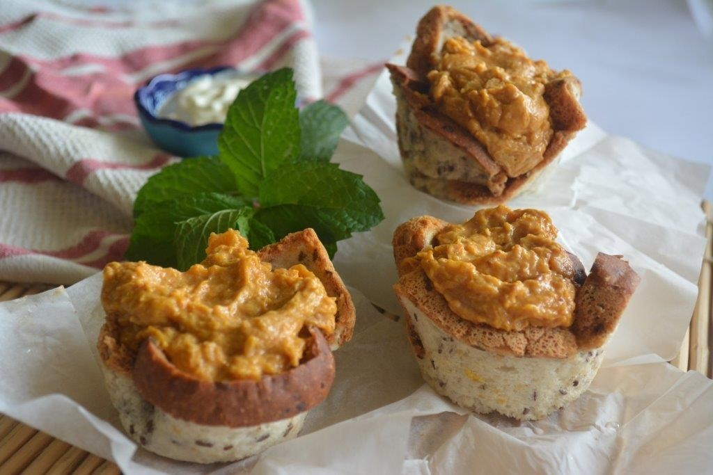 pumpkinchickpea curry cups