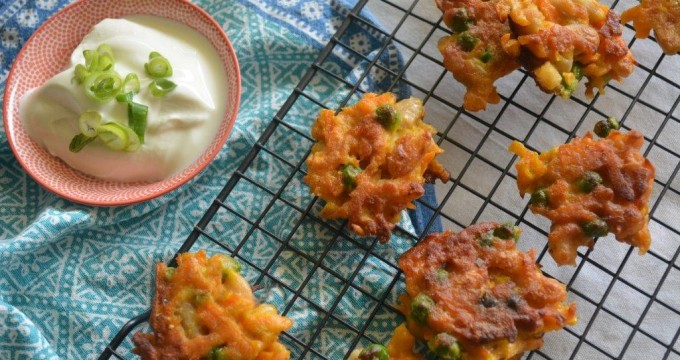 Carrot Pea Fritters 1