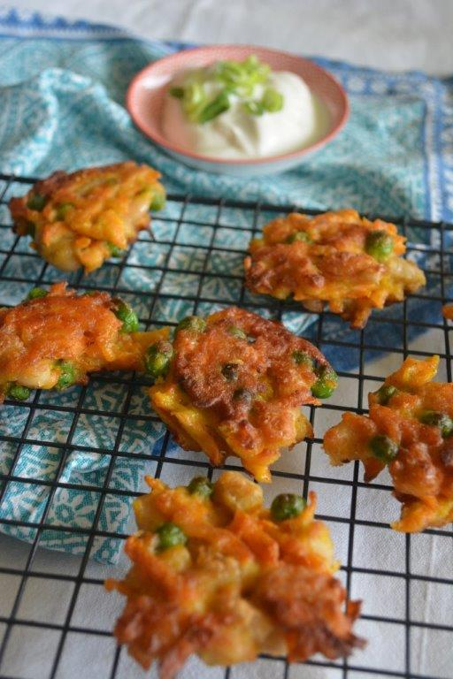 Carrot Pea Fritters 2