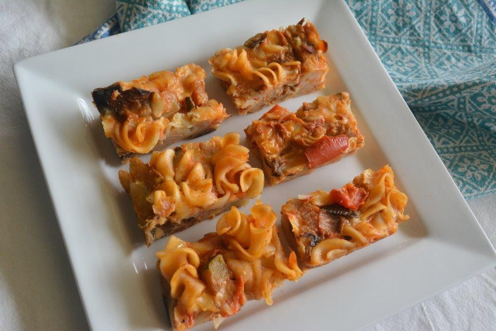 EggplantCapsicum pasta bake
