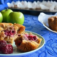 Gluten-free Recipe: Apple and Raspberry Muffins