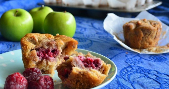Gluten-free Apple Raspberry Muffins