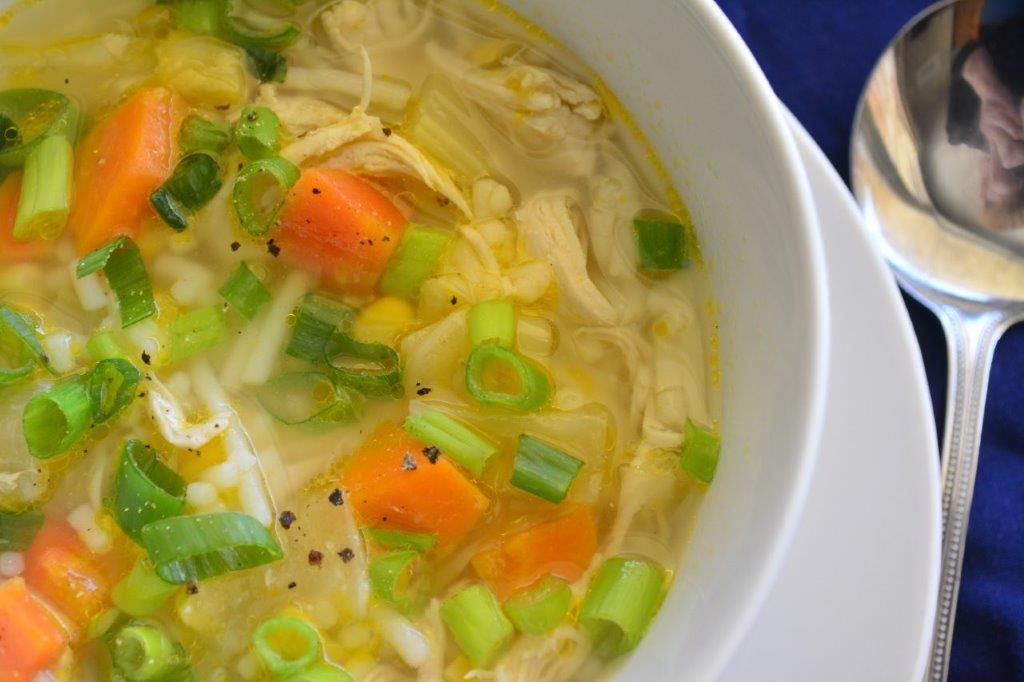 Chicken and Vegetable Noodle Soup - Gluten-free